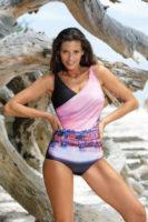 Dámské jednodílné stylové plavky v rafinovaném střihu