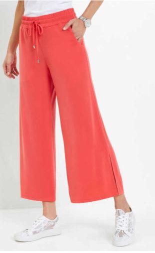 Dámské pohodlné kalhoty s pružným pasem v moderním střihu