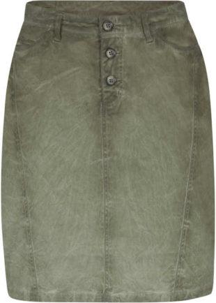 Trendy sukně s knoflíkovou légou v sepraném vzhledu