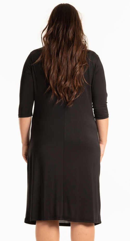 černé pouzdrové šaty pod kolena