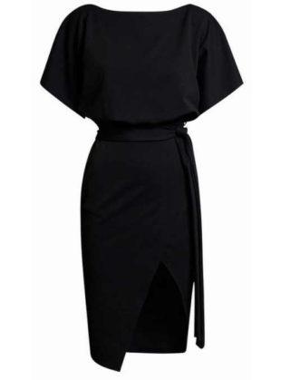 elegantní šaty na zavazování v pase