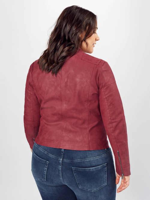 moderní bunda s asymetrickým zipem vpředu
