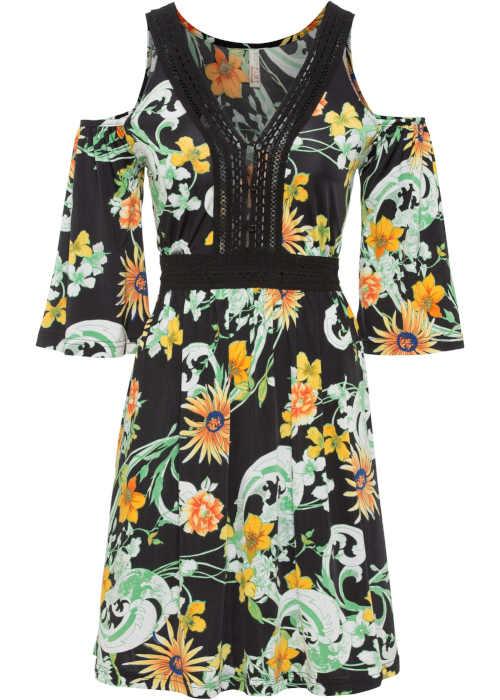 moderní šaty odhalující ramena