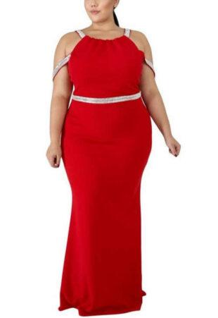 Dámské společenské šaty v hříšně svůdné červené