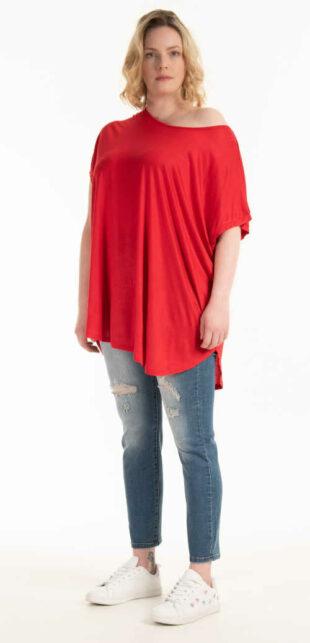 Moderní dámské tričko s krátkým rukávem z viskózy