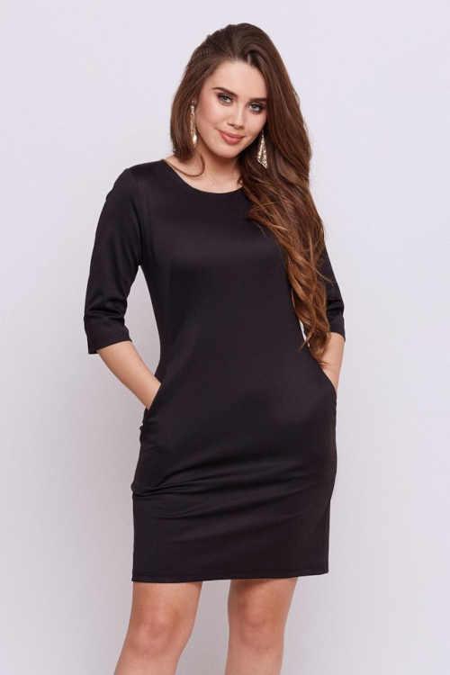 Moderní šaty s komfortní 3/4 délkou rukávů a praktickými kapsami