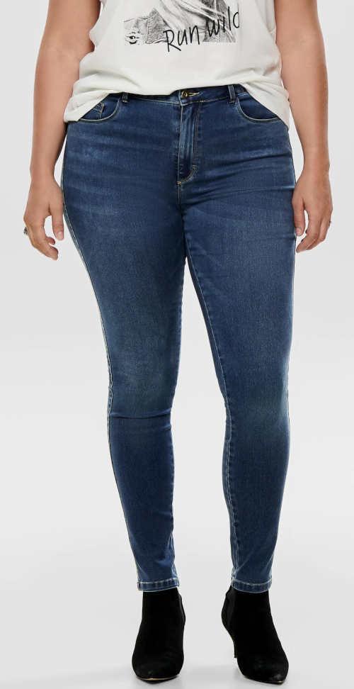 Dámské XXL džíny s efektem oprání