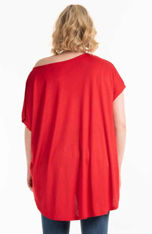 kvalitní červené dámské tričko