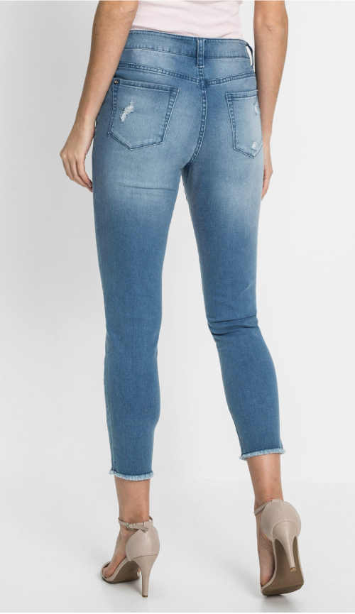 moderní džíny s pěknou výšivkou
