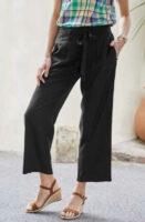 Moderní dámské široké kalhoty v 3-4 délce s páskem