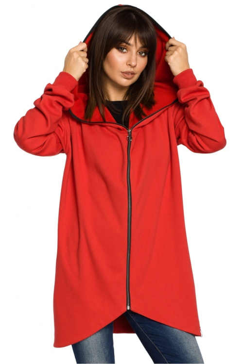 červená kvalitní mikina s kapucí