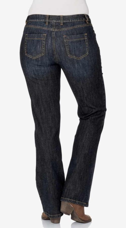 dámské moderní modré džíny