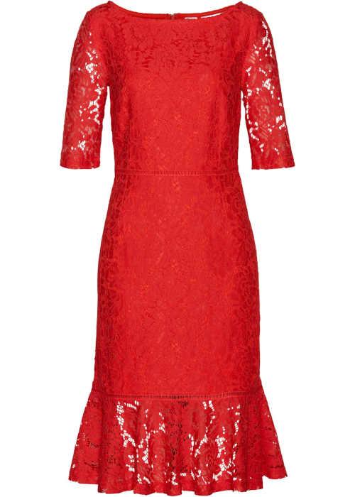 moderní krajkové šaty na zip