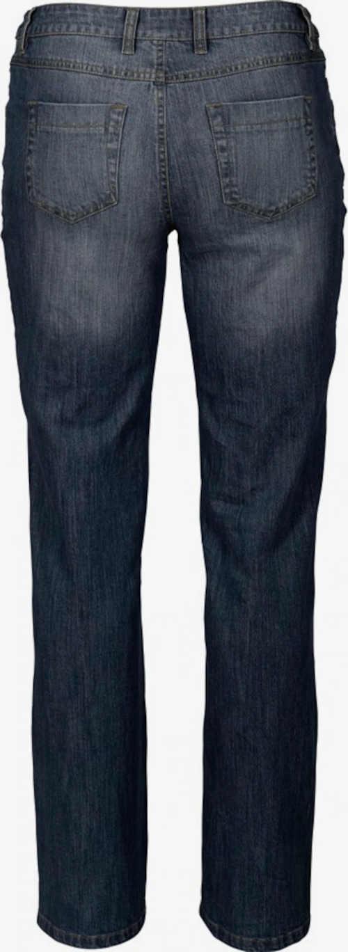 modré džíny z kvalitního materiálu