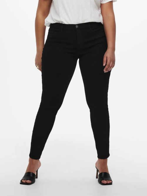 Dámské stylové džíny v efektivním střihu v černém provedení