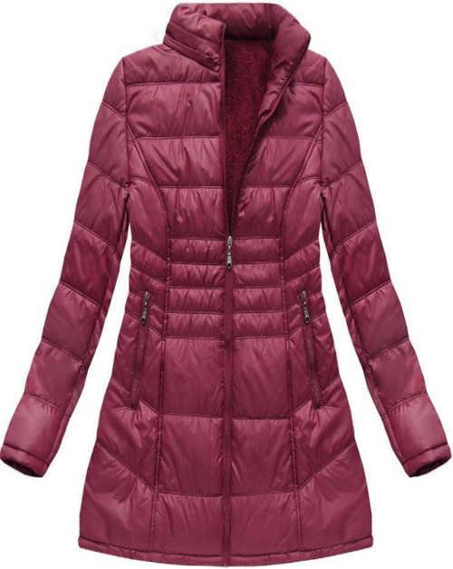 Prošívaná bunda v prodloužené délce s odnímatelnou kapucí
