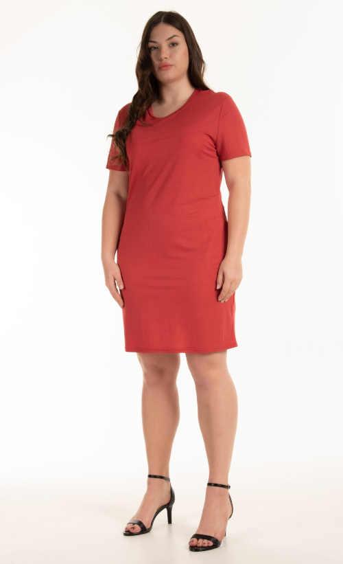 Stylové šaty v jednoduchém střihu s krátkým rukávem