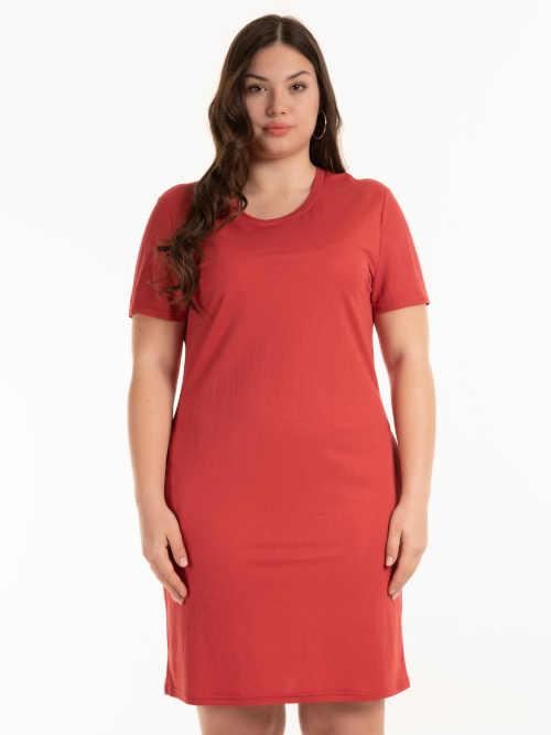 červené dámské krátké šaty