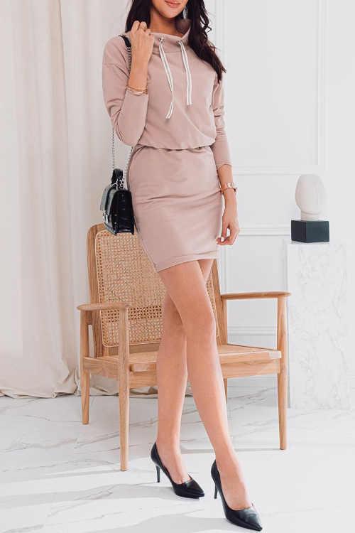 krátké šaty se stojáčkem
