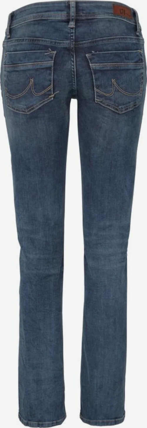 modré kvalitní džíny se středním pasem