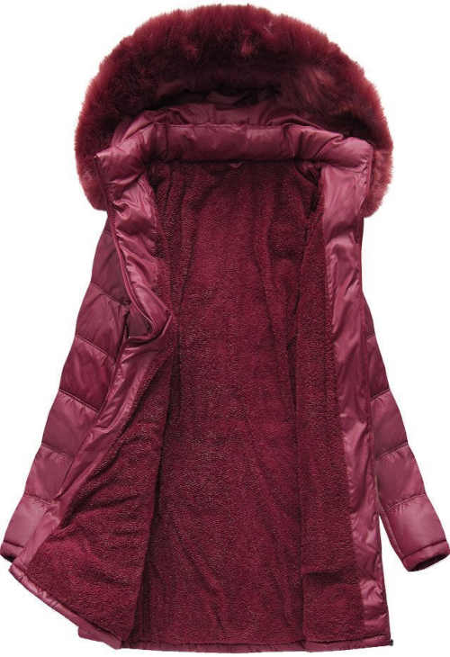Prošívaná XXL bunda v prodloužené délce s odnímatelnou kapucí