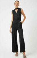 Luxusní dámský dlouhý overal v černém provedení