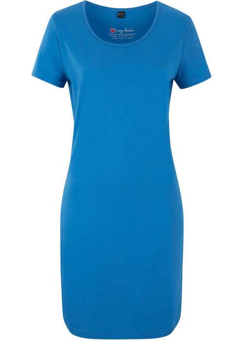 Moderní dámské šaty nad kolena ze strečového materiálu