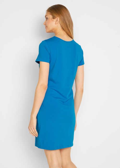 modré dámské bavlněné šaty