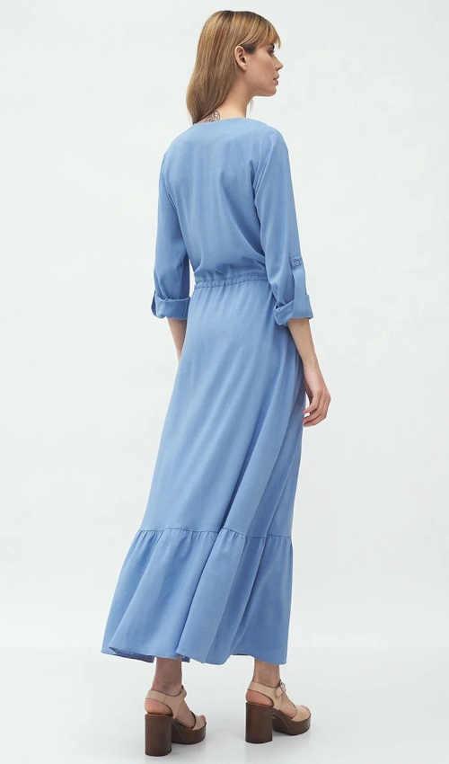 světle modré dlouhé šaty