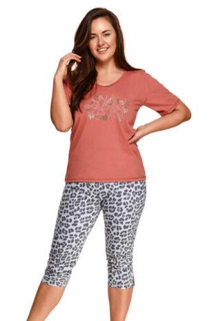 Dámské bavlněné pyžamo s krátkým rukávem a nohavicemi