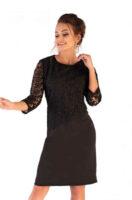 Dámské elegantní šaty s krajkou v délce nad kolena