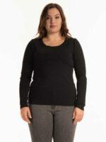 Základní dámské elastické triko s dlouhým rukávem