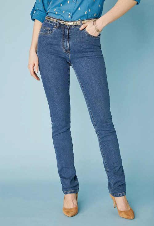dámské moderní strečové džíny