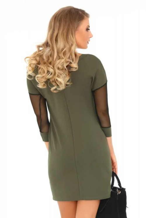 dámské šaty v khaki barvě