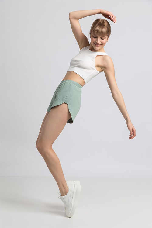 dámské šortky krátké zelené