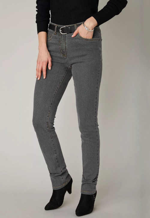 džíny pro střední výšku postavy