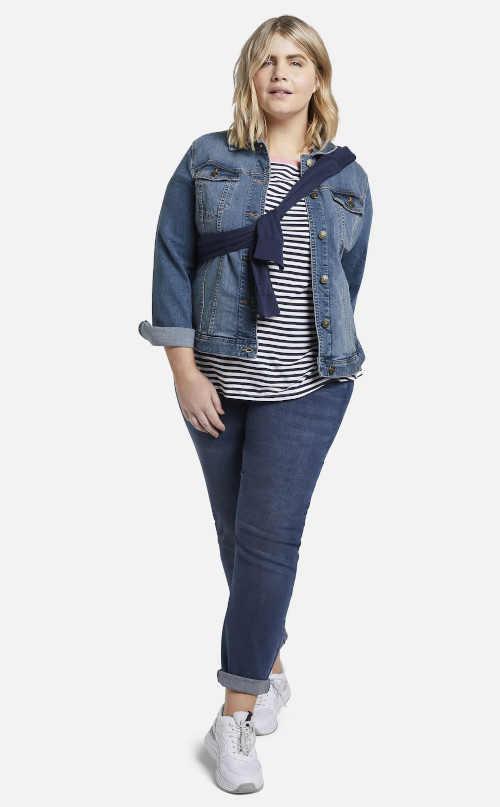 přechodná dámská džínová bunda