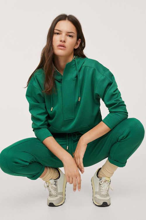 zelená dámská mikina Mango