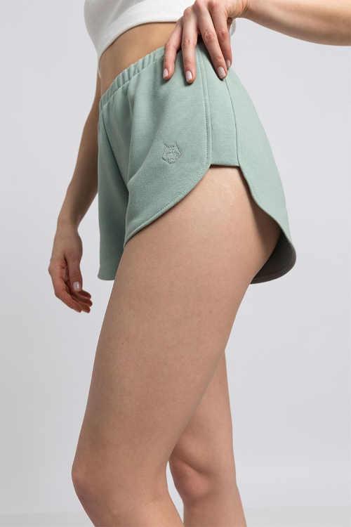 zelené dámské bavlněné šortky